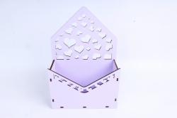Кашпо (А) Ящик конверт для цветов №15 (Цвет Лиловый )Я015л