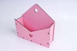 Кашпо (А) Ящик конверт для цветов №5  (Цвет Розовый ) Я005р