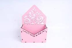 Кашпо (А) Ящик конверт для цветов №11  (Цвет Розовый )Я011р