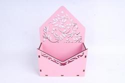 Кашпо (А) Ящик конверт для цветов №13  (Цвет Розовый )Я013р