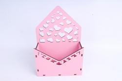 Кашпо (А) Ящик конверт для цветов №15  (Цвет Розовый )Я015р