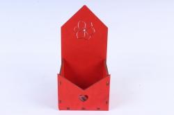 Кашпо (А)  Ящик конверт для цветов №6 красный  Я006к
