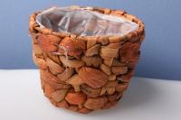 кашпо бамбук плетеное круглое. 16х12см 2741