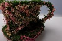 кашпо чашка из травы 13109-2