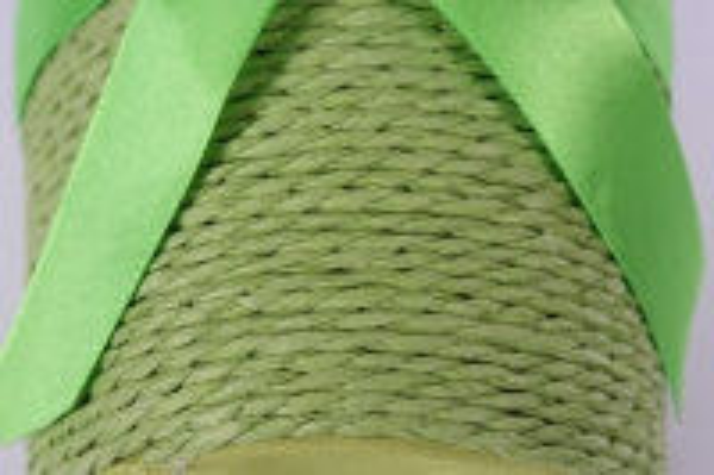 "кашпо ""цилиндр"" намотка бумажный шнур оливковый d=12, h=12см"
