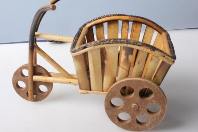 Кашпо декоративное Велосипед с тачкой