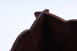 Кашпо деревянное (И) Квадрат Улитка полисандр