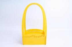 Кашпо деревянное (И) Прямоугольник Нежность желтое