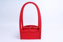 Кашпо деревянное (И) Прямоугольник Нежность красное
