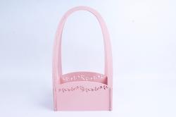 Кашпо деревянное (И) Прямоугольник Нежность перламутрово-розовый