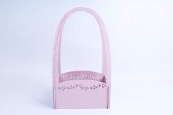 Кашпо деревянное (И) Прямоугольник Нежность розовая пенка