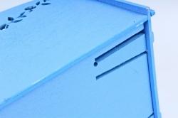 Кашпо деревянное (И) Прямоугольник Нежность ультрамарин
