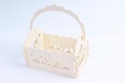 Кашпо деревянное (И) Прямоугольник Птицы молочный