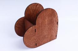 Кашпо деревянное (И) Сердце полисандр