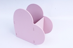 Кашпо деревянное (И) Сердце розовая пенка