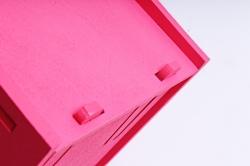 Кашпо деревянное (И) Сердце розовое