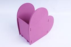 Кашпо деревянное (И) Сердце слива