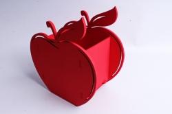 Кашпо деревянное (И) Яблоко красное