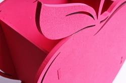 Кашпо деревянное (И) Яблоко розовое