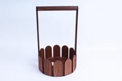 Кашпо деревянное (И) Заборчик круглый палисандр
