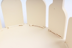Кашпо деревянное (И) Заборчик круглый средний молочный