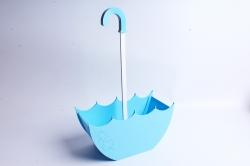 Кашпо деревянное (И) Зонт средний голубой