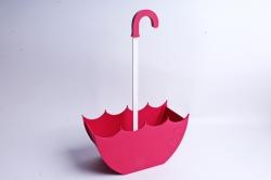 Кашпо деревянное (И) Зонт средний розовый