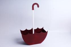 Кашпо деревянное (И) Зонт средний рубиново-красный