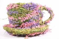 Кашпо для цветов - Чашка из травы d=13 h=9 (Код SL12468)
