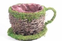 Кашпо для цветов - Чашка из травы d=15 h=9 (Код SL16A407-1)