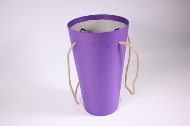 Кашпо для цветов (Конус под Цветы) фиолетовое