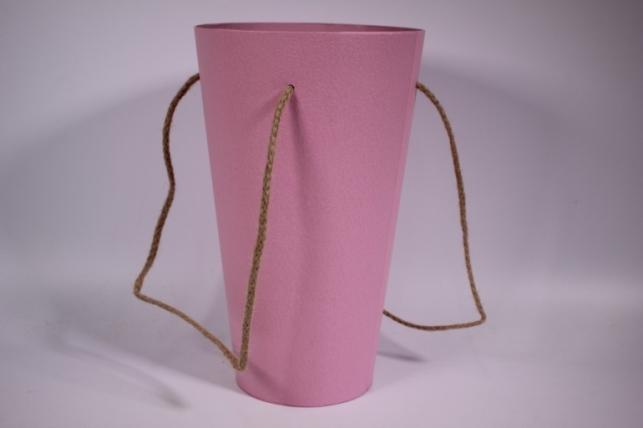 Кашпо для цветов (Конус под Цветы) розовое