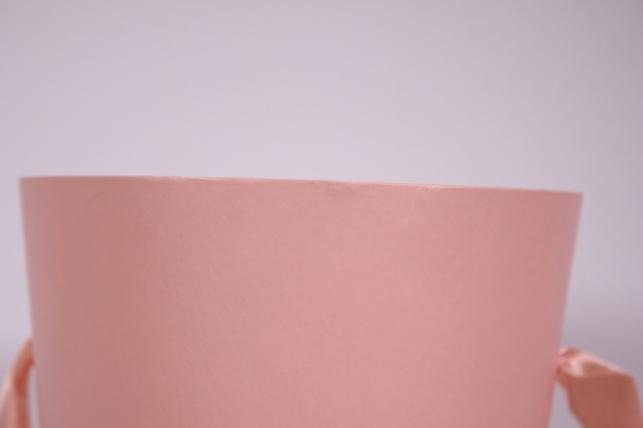 кашпо для цветов (конус) под цветы с ручками розовый