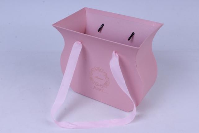 Кашпо Горшочек Розовое 20x7 h=18cm