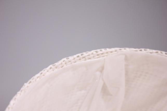 кашпо из бумажной сетки-внутри пластик белое d=13/h=15см wh14-282mix