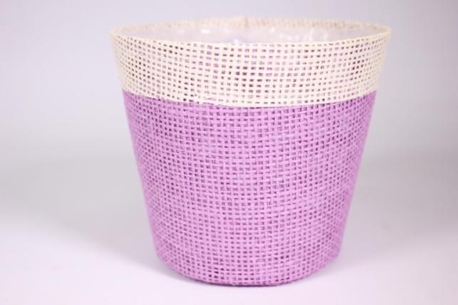 Кашпо из бумажной сетки-внутри пластик Сиреневое d=13/h=15см WH14-282MIX