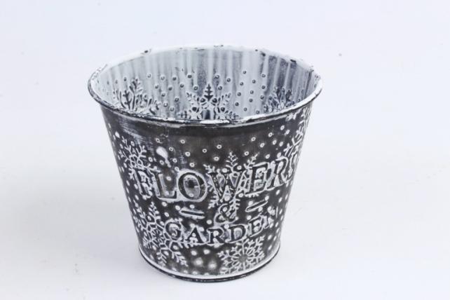 Кашпо из металла Новый Год    SQ50274-3D
