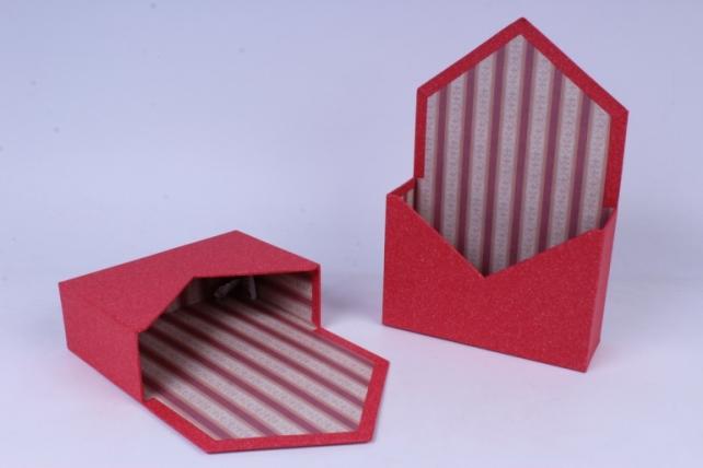 Кашпо Конверт Красное (2 шт в уп) 20x7cm h=13/30cm