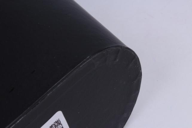"""кашпо-коробка """"овал с ручками"""" черный  22,5x12 h=15cm s303"""
