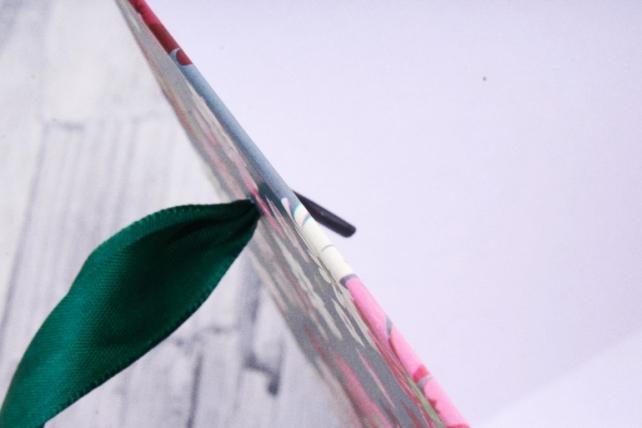 Кашпо Квадрат с ручками цветы на сером   S21