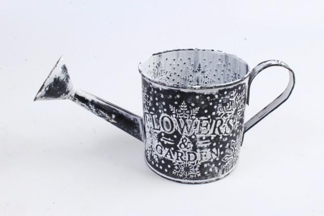 Кашпо Лейка из металла Новый Год    SQ50274-1D
