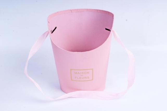 Кашпо Овал с косым срезом малое розовое К210