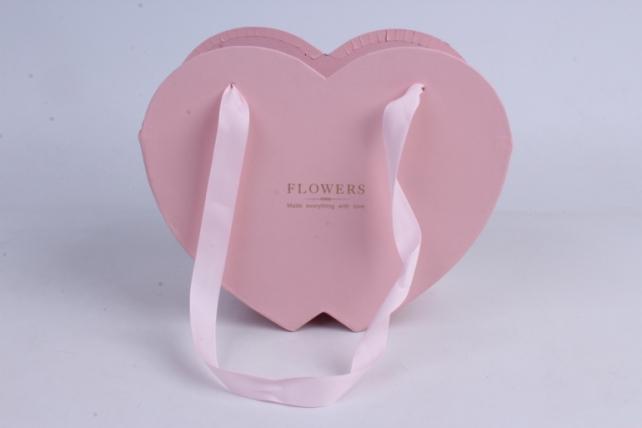 Кашпо Сердце Розовое