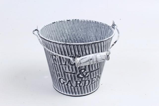 Кашпо Ведерко из металла   PY7039
