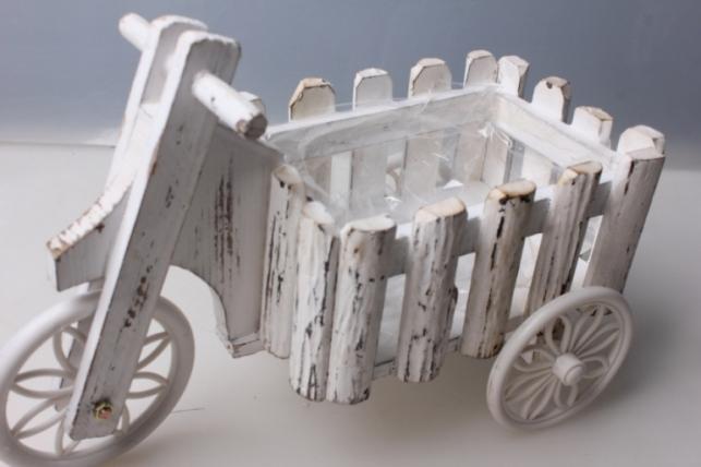 кашпо велосипед дерево 30х20х16см 3059