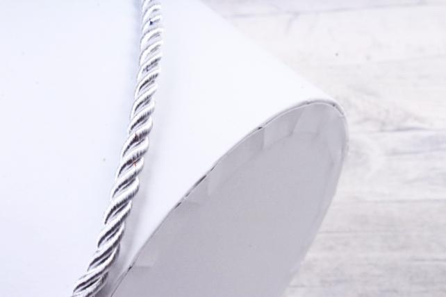 Кашпо-коробка Круглое белое  R19