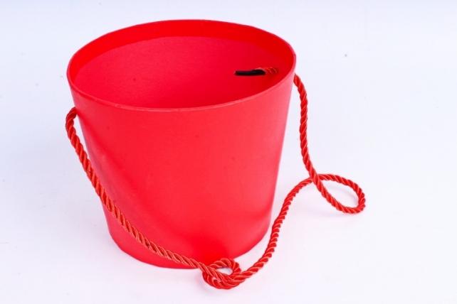 Кашпо-коробка Круглое красное R19