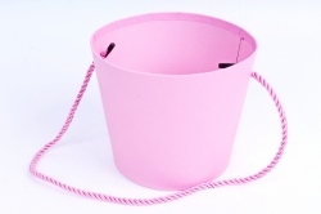 Кашпо-коробка Круглое розовое  R19