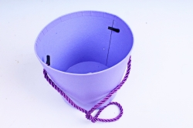 Кашпо-коробка Круглое сиреневое R19