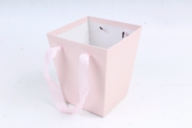 Кашпо-коробка Квадрат светло-розовое К192